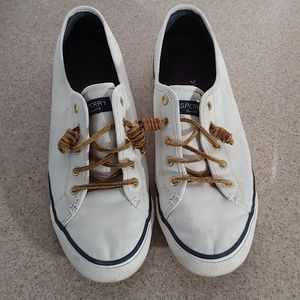 Classic White Sperrys